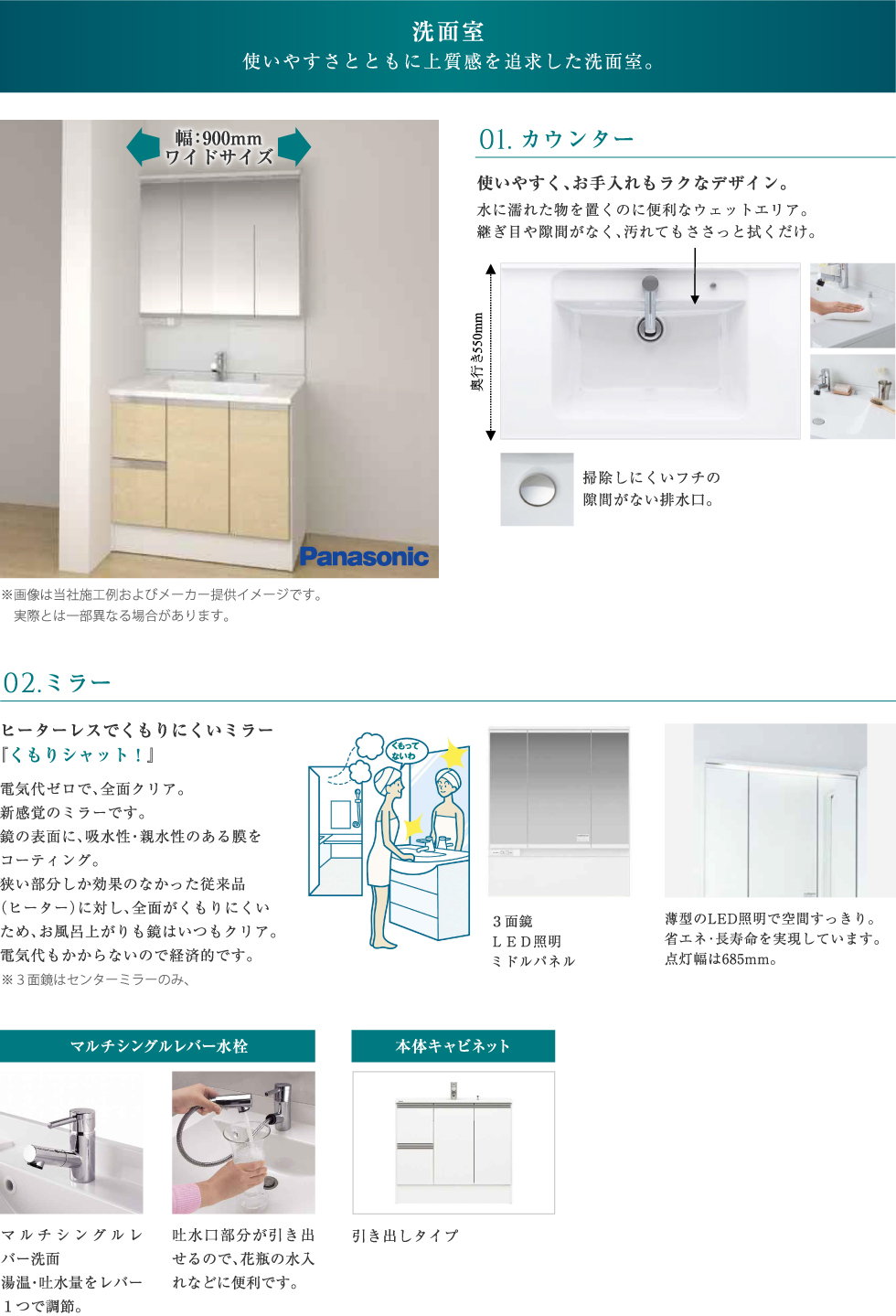 オール電化   パナソニックの洗面室